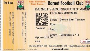 (21) Barnet FC - Accrington Stanley