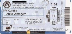 (25) KV Kortrijk - Zulte Waregem