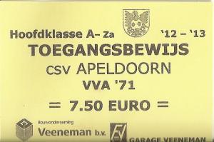 (41) CSV Apeldoorn - VVA'71