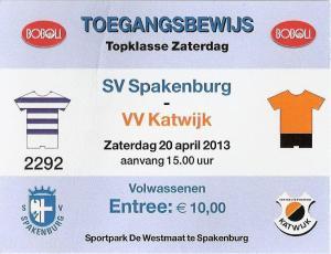 (44) SV Spakenburg - VV Katwijk
